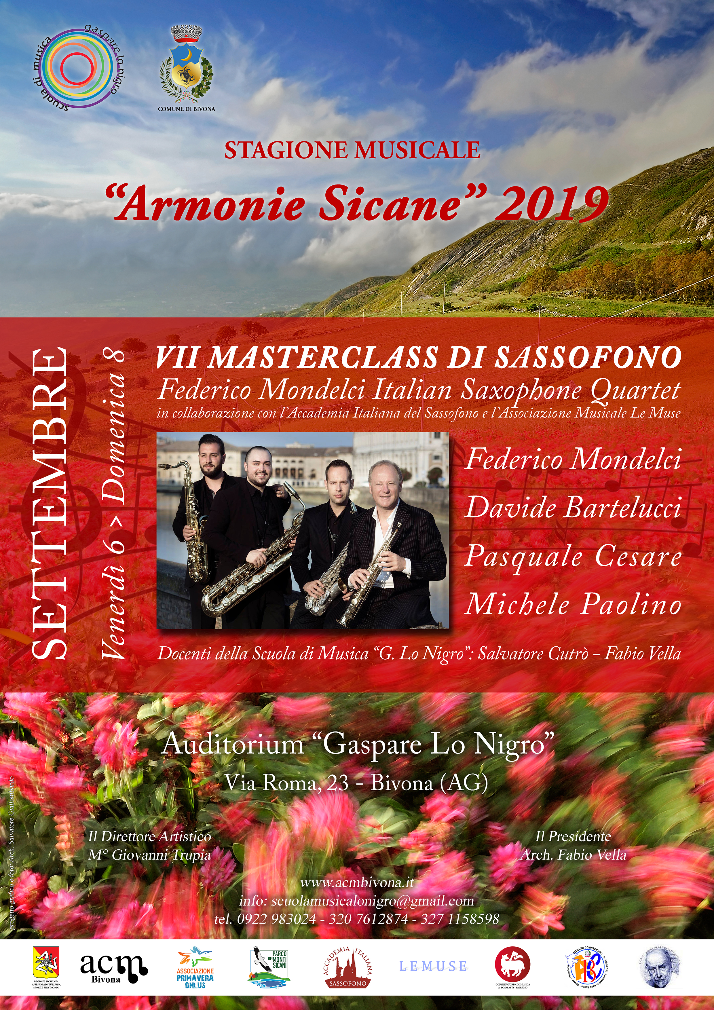 Masterclass Sassofono - Locandina A4