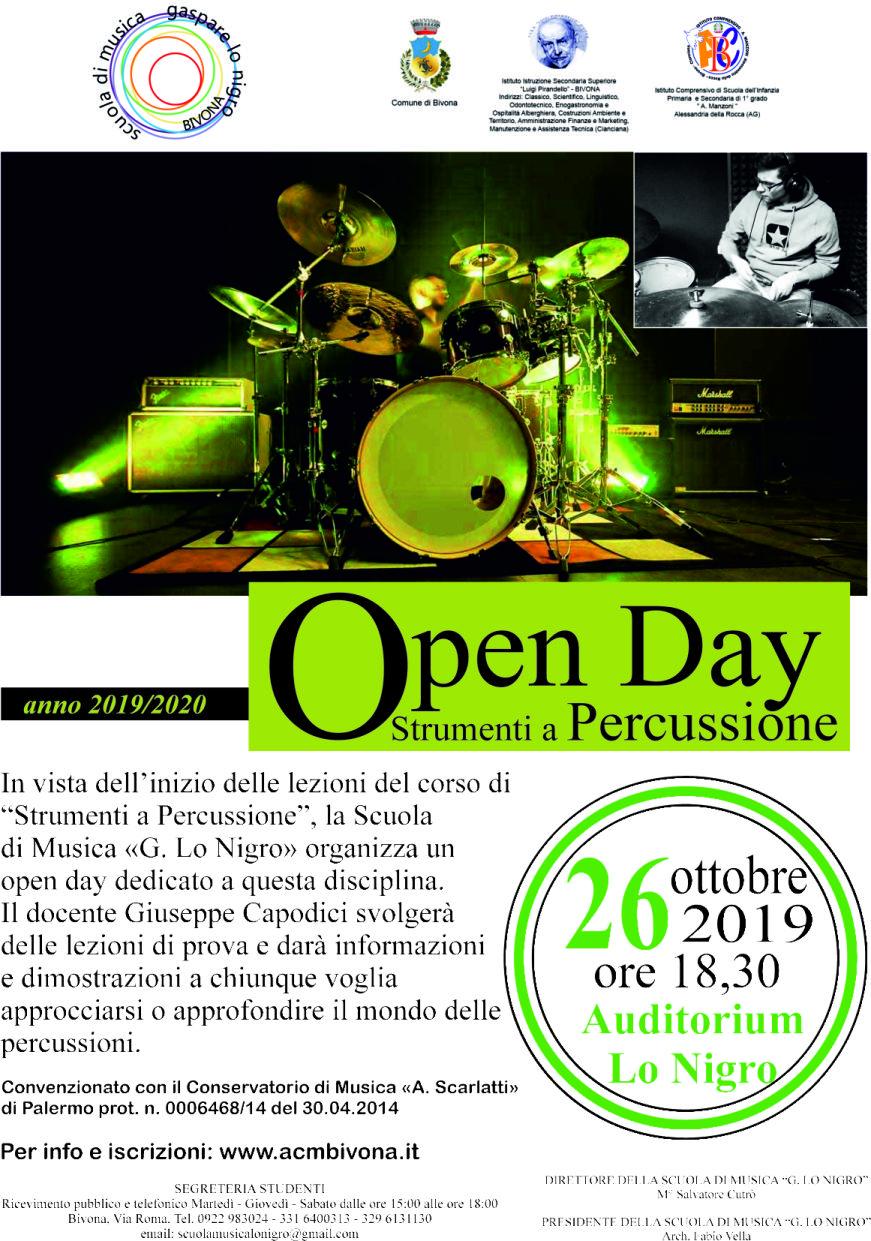 open day di batteria x volantino