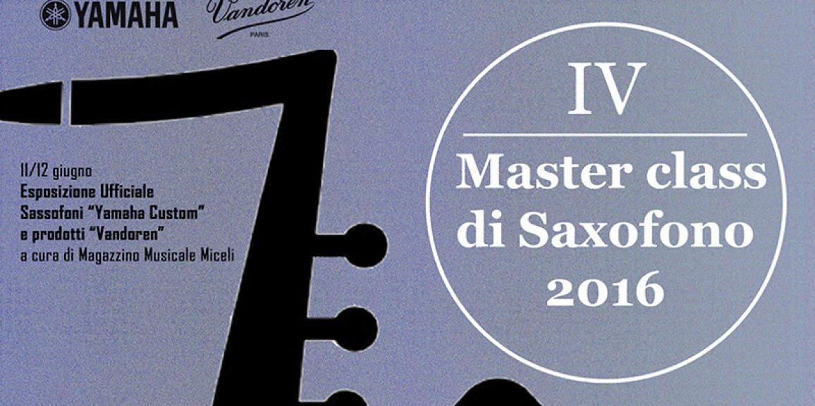 Modulo d'iscrizione IV Master class di Sassofono 2016