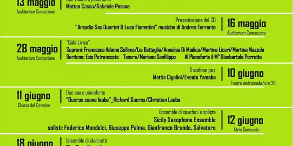 """Stagione concertistica 2016 – Scuola di Musica """"G. Lo Nigro"""""""