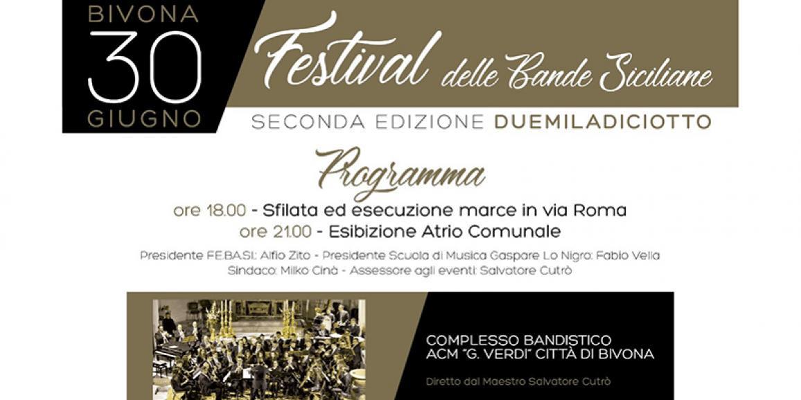 Festival delle Bande Siciliane – Bivona 30/06/2018