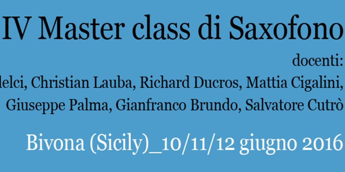 IV^ Master class di Saxofono