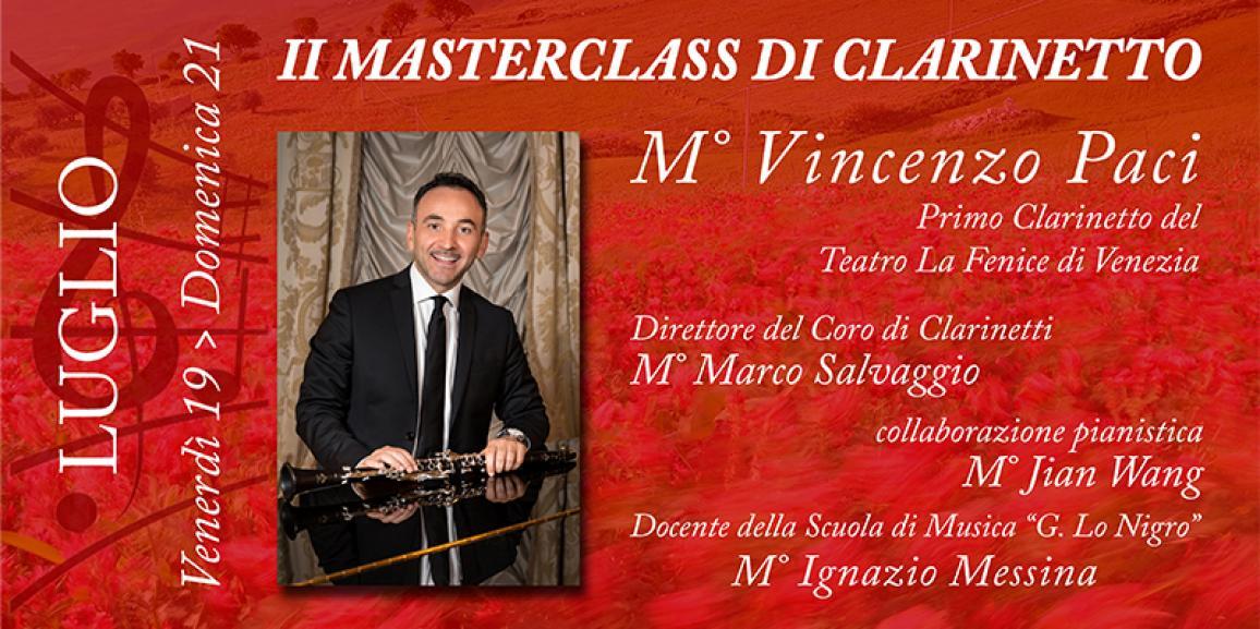 II Masterclass di Clarinetto 2019