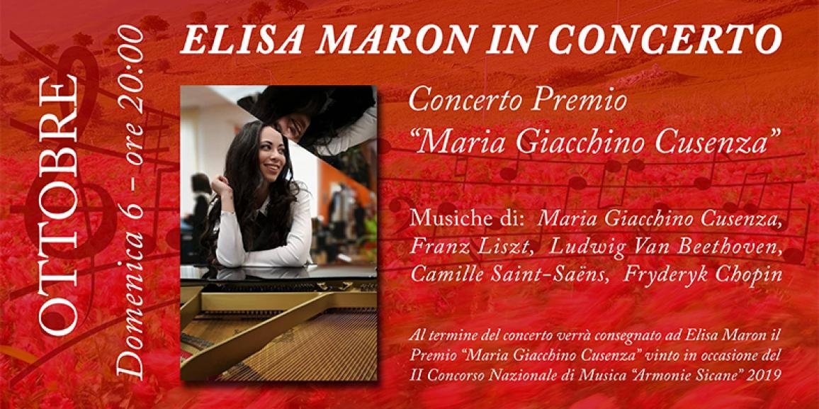Elisa Maron in Concerto – Auditorium Lo Nigro 06/10/2019