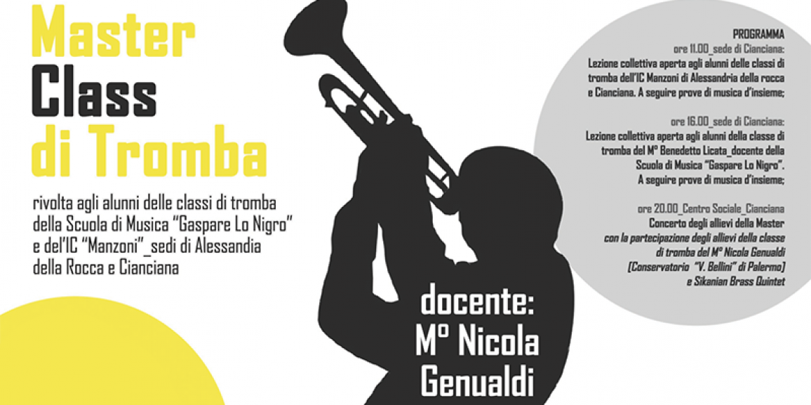 Master Class di Tromba con il M° Nicola Genualdi 01/12/2016