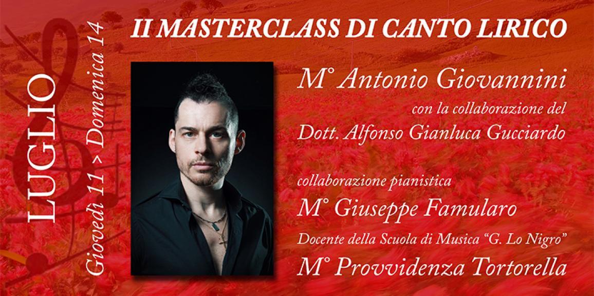 II Masterclass di Canto Lirico 2019 SOLD OUT!