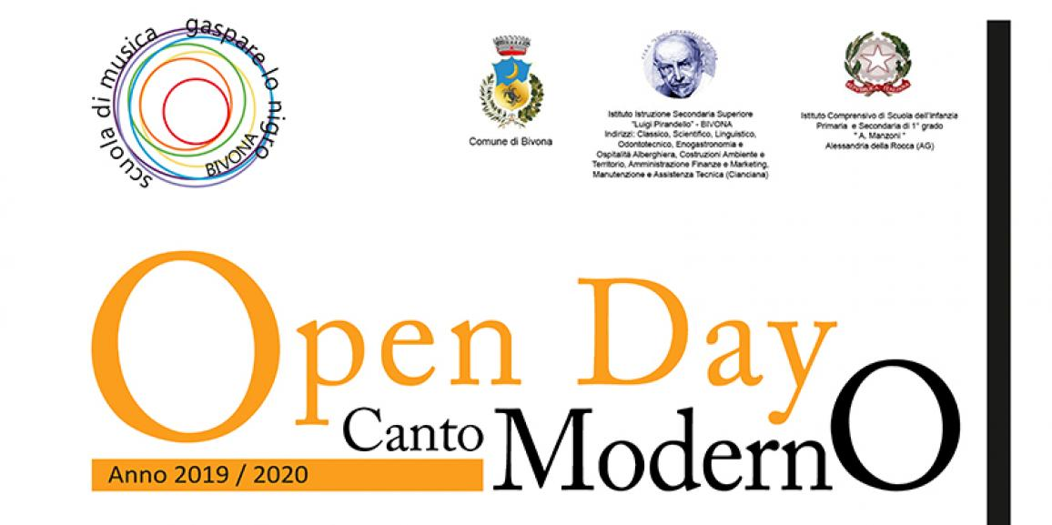 Open Day classe di Canto Moderno 12/10/2019