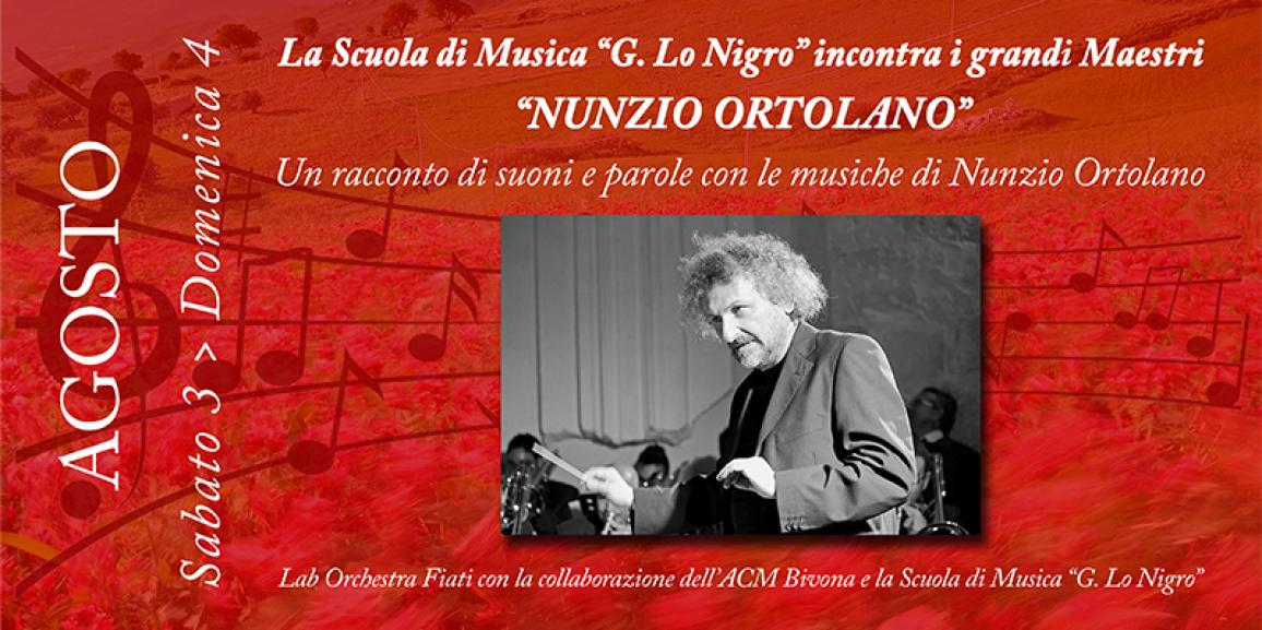 Un racconto di suoni e parole con le musiche di Nunzio Ortolano