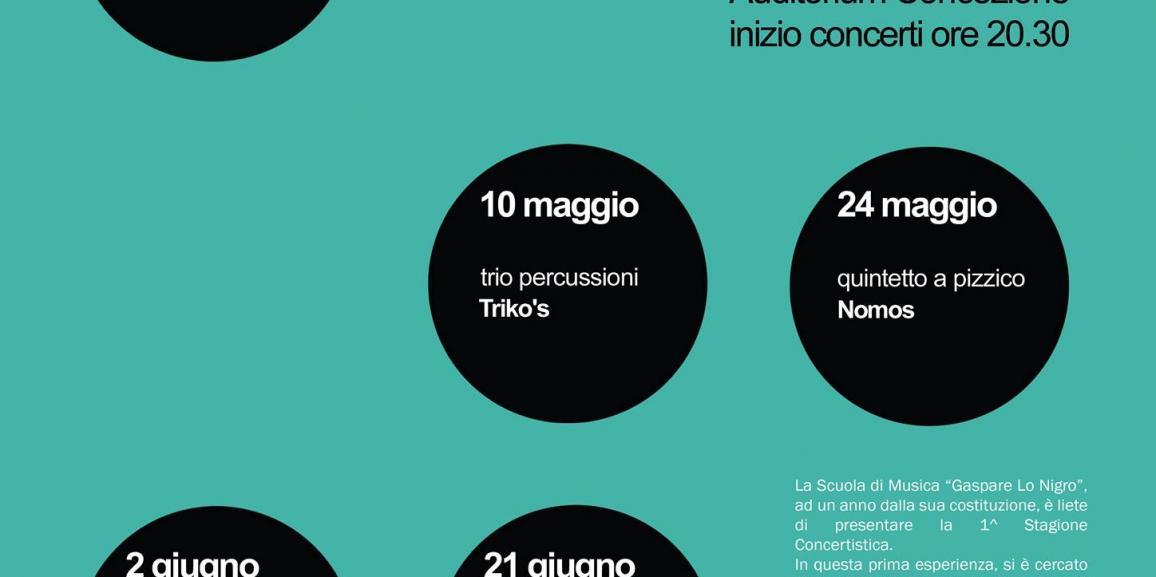 """1^ Stagione Concertistica """"G. Lo Nigro"""" 2015"""