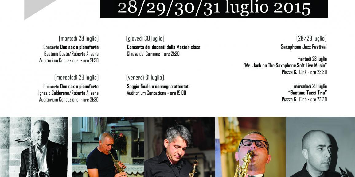 III^ Master class di Saxofono