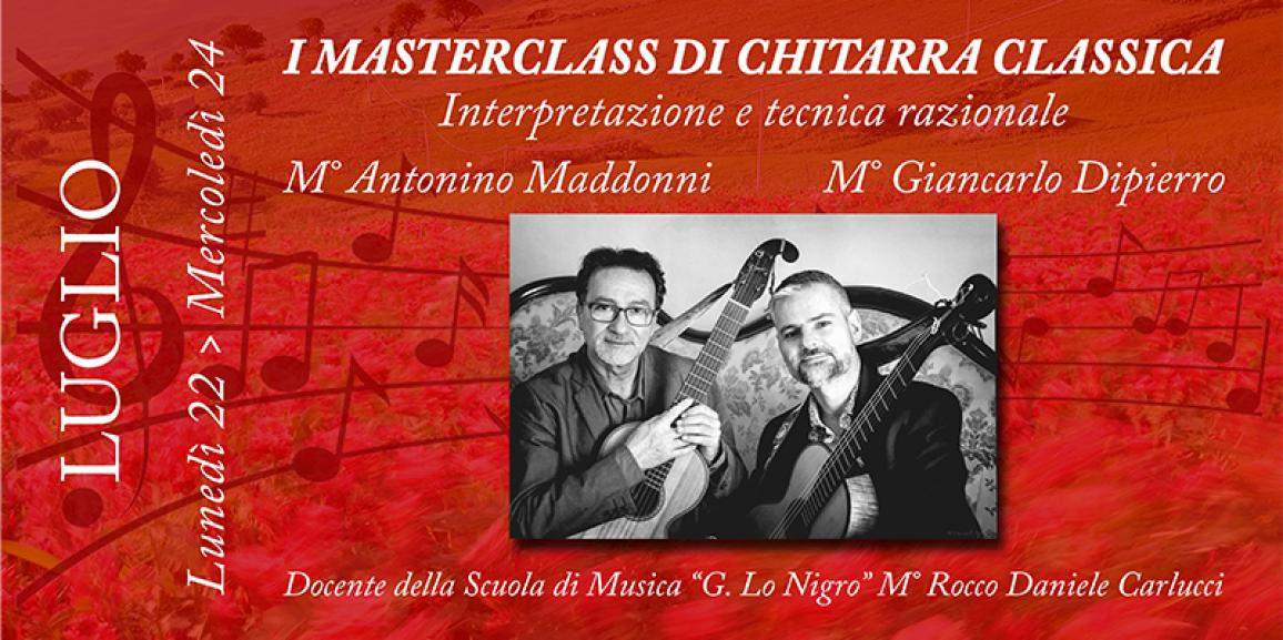 I Masterclass di Chitarra Classica 2019