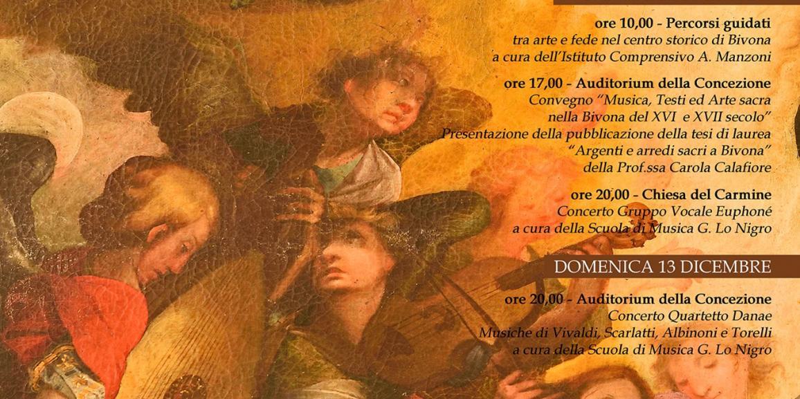 """""""Come trame d'un canto"""" – Dall'11 al 13 dicembre, musica, testi ed arte sacra nella Bivona del XVI e XVII secolo"""